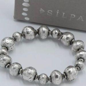 Silpada Atmospheric Sterlng Stretch Bracelet B1998